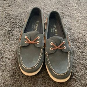 Navy Cross Lace J Crew Sperry Topsiders Sz 11.5